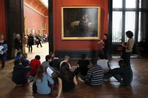Art class at the Louvre.