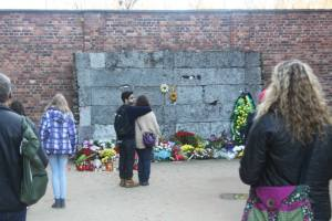 A memorial inside the camp.