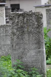 Headstone in a Jewish cemetery.