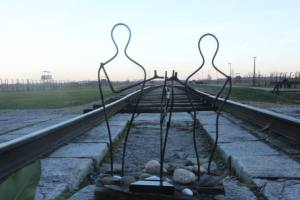 A small art shrine at Auschwitz