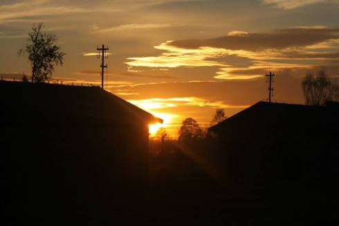 Sunset over Auschwitz.