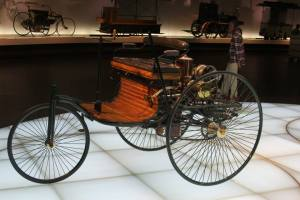 This is a replica of the 1st car ever built. Can you imagine a world without cars today?