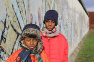 Isaiah & Jr at what's left of the Berlin wall. 2013