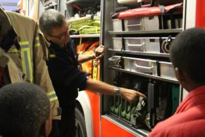 Run down on the equipment on each fire vehicle.