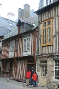 The oldest building in Rennes. http://en.wikipedia.org/wiki/Rennes