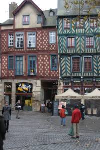 This is where we stayed in the middle of Rennes.