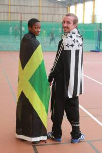 Brittany against Jamaica for the badminton championship of the world!