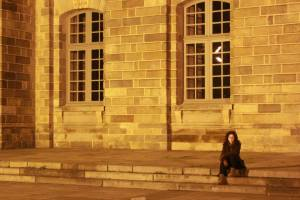Rennes by streetlight.